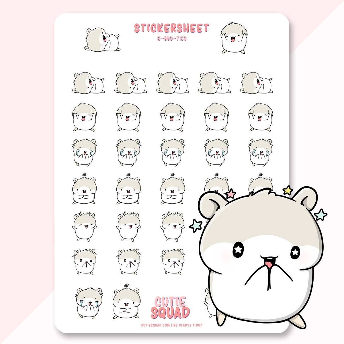 CutieSquad Stickervel - Mo's Emotes (LIMITED!)
