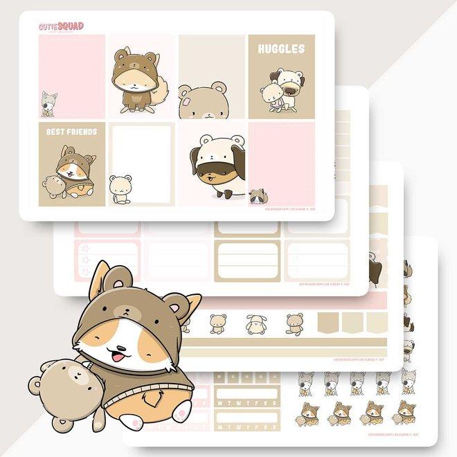Planner Kit - Teddy Dogs
