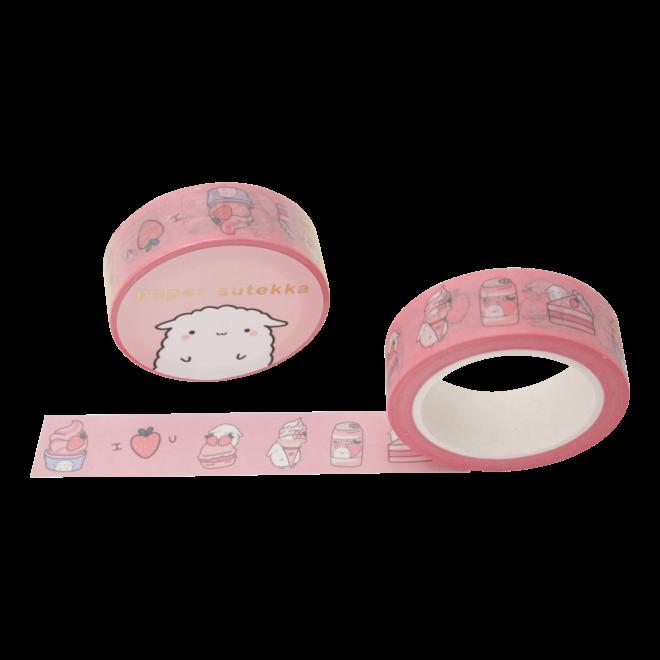 Washi Tape - Mochi Strawberry Desserts