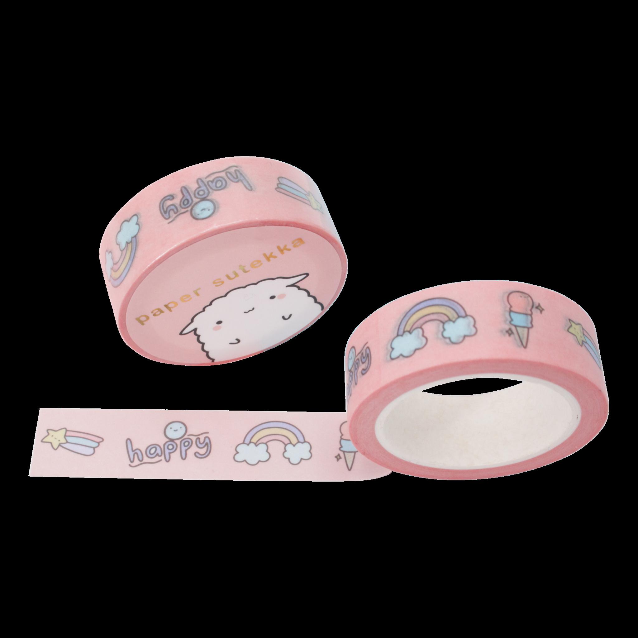 Paper Sutekka Washi Tape - Doodles Happy