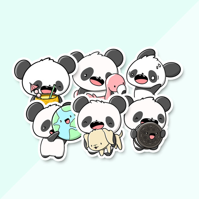 Stickerset - June Pandas (LIMITED!)