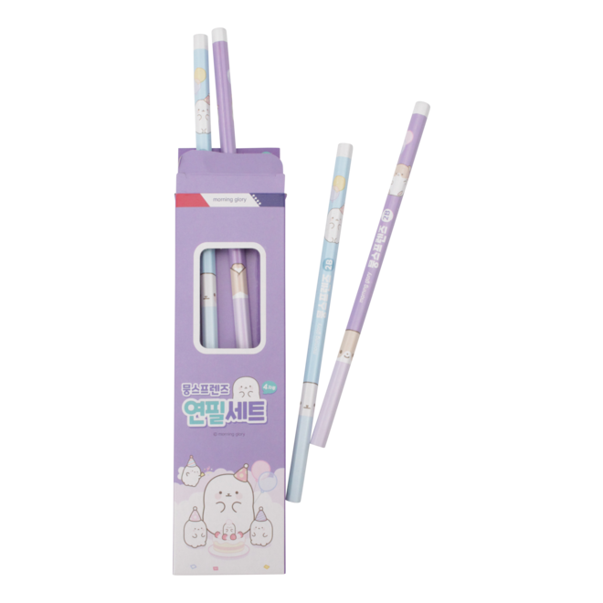 Moongs Friends 2B-pencils set (4)