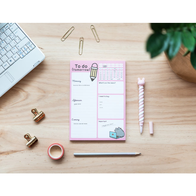 Pusheen To-do Notepad - Rose Collection