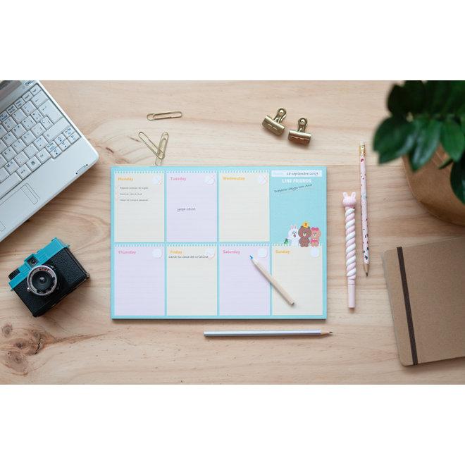 Line Friends Weekplanner
