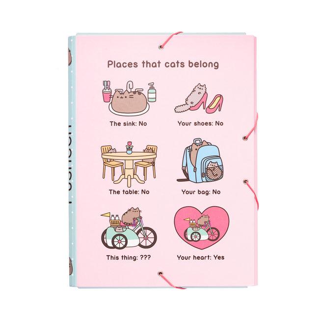 Pusheen elastic folder - Places that cats belong