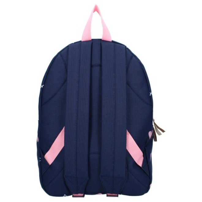 Milky Kiss backpack Young, Wild & Free - Hearts