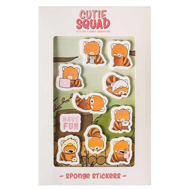 Big foam stickers - Playful red pandas