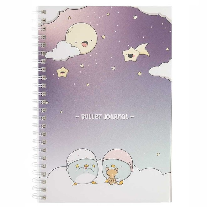 A5 Bullet Journal - Sleepy Penguins