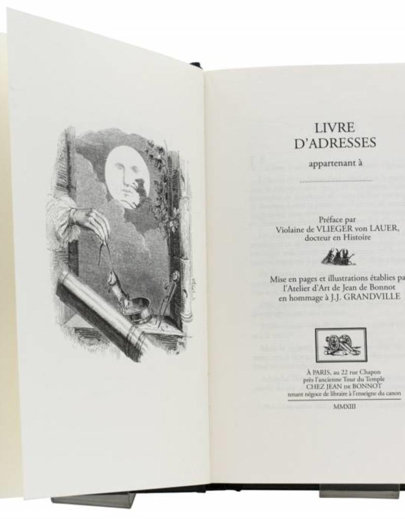 J.J. Grandville J.J. Grandville - Livre d'adresses
