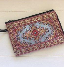 ab1754a114d Chique schoudertasje 2 in 1 - Groen Fluweel. €29,95. Make up tasje  Marrakech - Rood/Lichtblauw