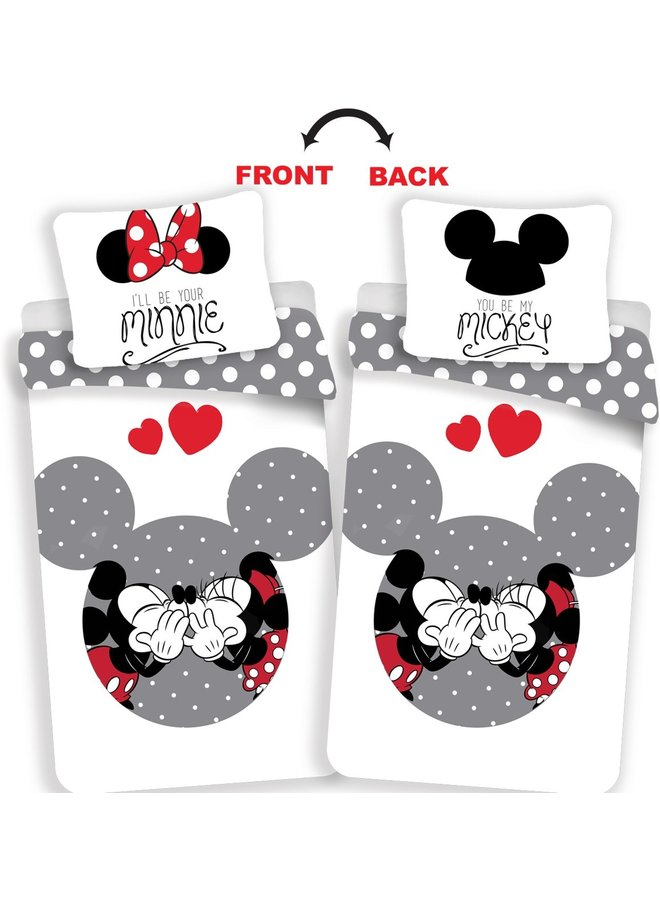 Mickey Dekbedovertrek-Disney Minnie Mouse Your Minnie- Eenpersoons- 140x200 cm - Multi