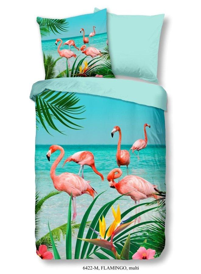 Dekbedovertrek Pure Microfiber nr.6422 - Multi - Flamingo