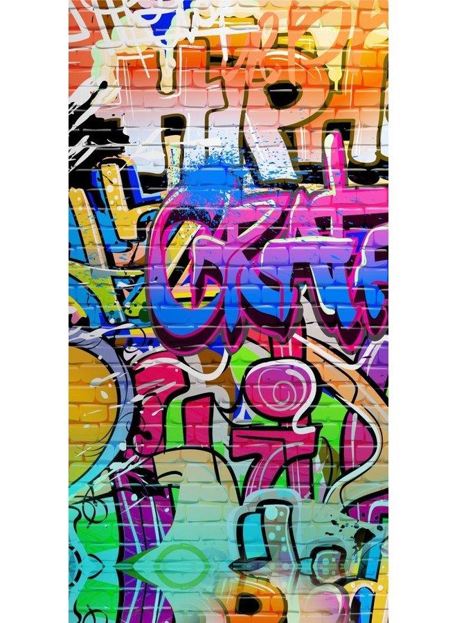 Strandlaken Kids Good Morning Poly Velours no.5481 - Multi - Graffiti