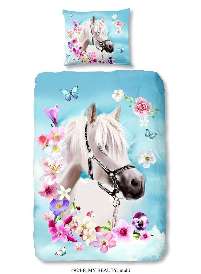 Kinderdekbedovertrek Good Morning Katoen nr.4924 - Multi - Paard