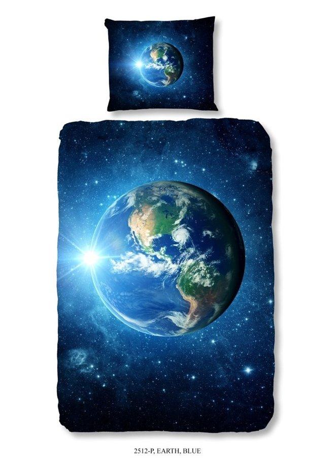Kinderdekbedovertrek Good Morning Katoen nr.2512 - Blauw - Aarde