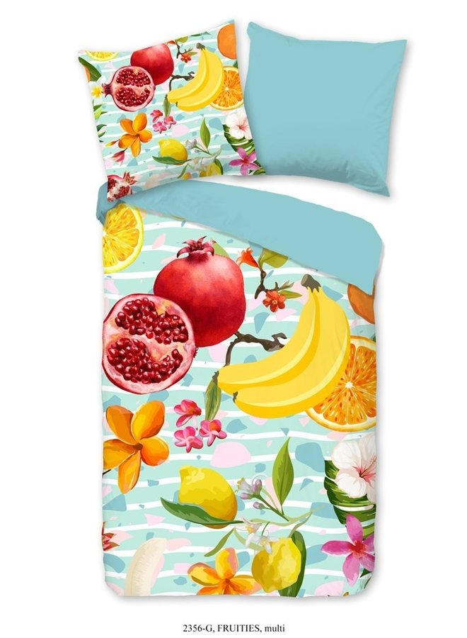 Dekbedovertrek Good Morning Katoen nr.2356 - Multi - Fruit