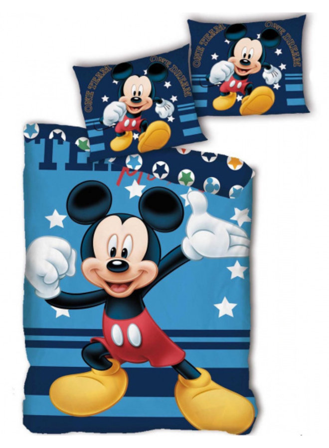 Disney Mickey Mouse Stars Duvet cover Single 140 x 200 cm Blue