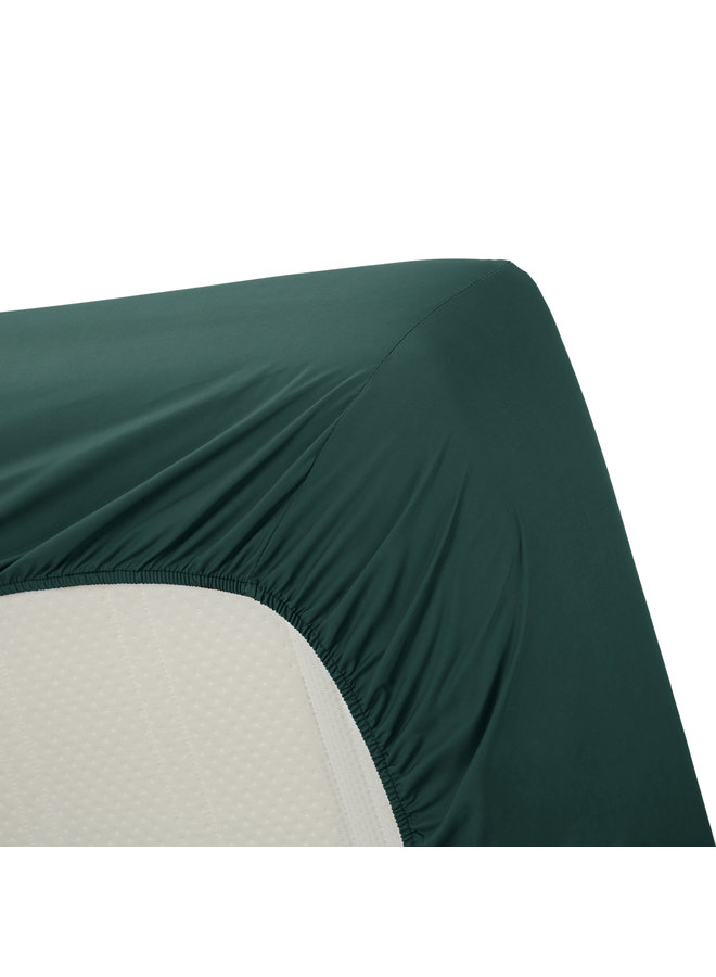 Ambiante Hoeslaken Cotton Uni Dark Green 100% katoen