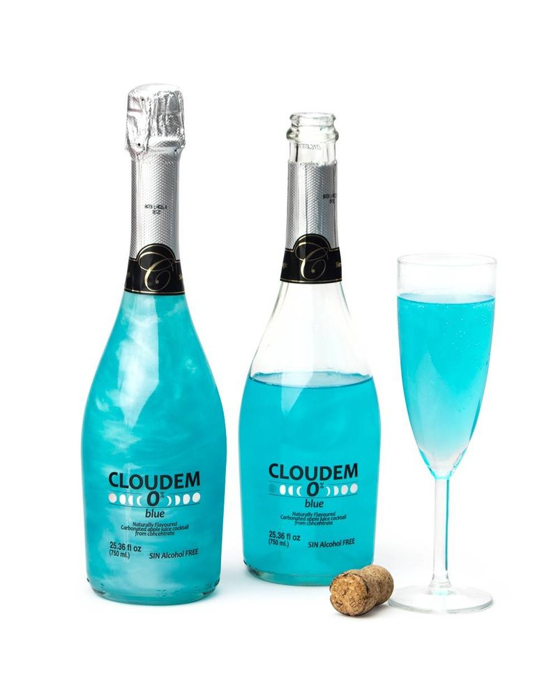 Cloudem Blue Sparkling Alcoholvrije Appelcider