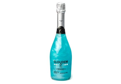 Cloudem Cloudem Blue Mousserende Alcoholvrije Glitter Wijn