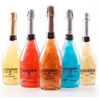 Cloudem Rosé Mousserende Alcoholvrije  Glitter Wijn Framboos