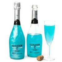 6 Flessen Cloudem Blue Mousserende Alcoholvrije Glitter Wijn Blauwe Bessen