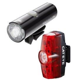 Cateye VOLT 200 XC FRONT LIGHT & RAPID MINI REAR USB RECHARGEABLE LIGHT SET: