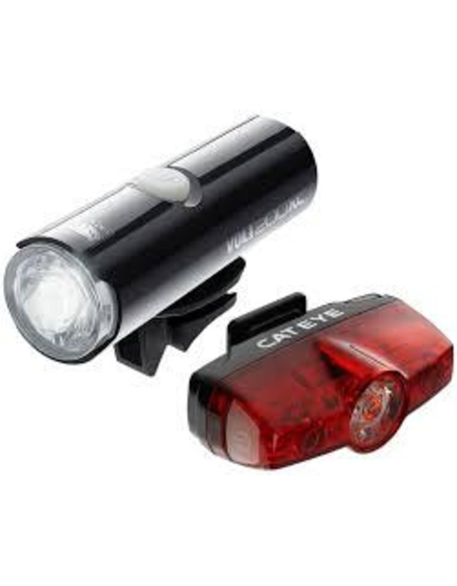 Cateye VOLT 80 FRONT LIGHT & RAPID MICRO REAR LIGHT USB RECHARGEABLE LIGHT SET: