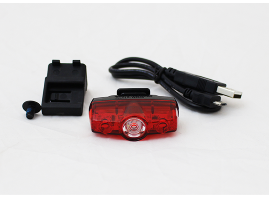 Battery Lamp - Rear - Saddle mounted Includes fixings (Cateye Rapid Mini)
