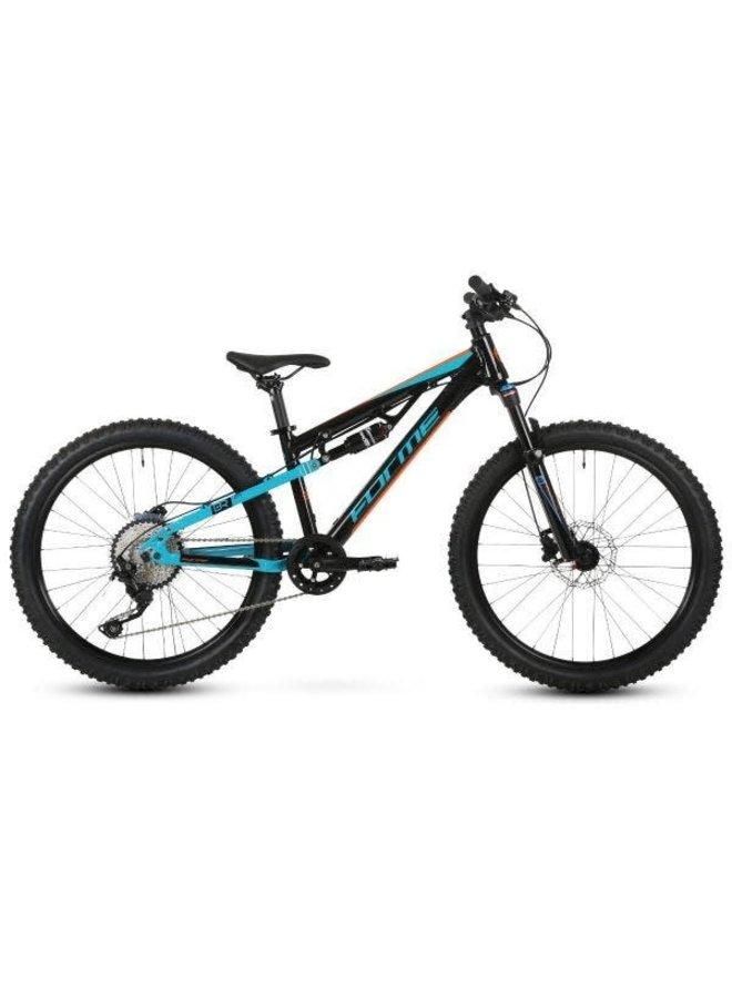 "Forme Black Rocks Junior 24"" Full Suspension Bike Black/Orange/Blue"