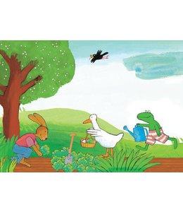 Kikker / Frog Fototapete Frog Vegetable Garden
