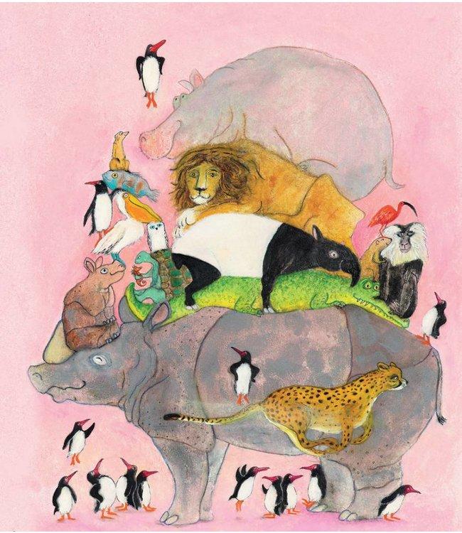 Fototapete für Kinderzimmer Jumping Pinguins, 243.5 x 280 cm