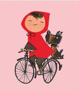 Fiep Westendorp Fototapete Riding my Bike, Rosa