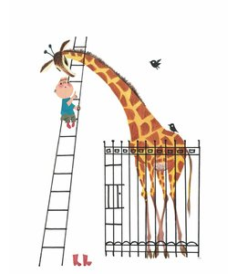 Fiep Westendorp Fototapete Giant Giraffe