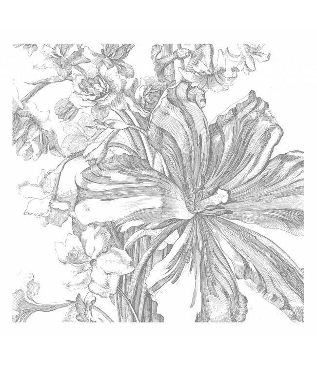Fototapete Engraved Flowers, 292.2 x 280 cm