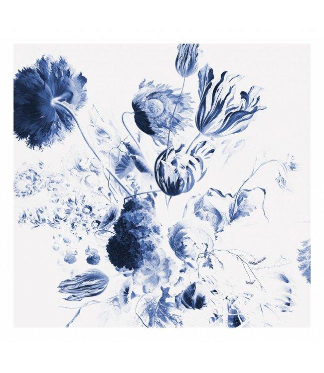 Fototapete Royal Blue Flowers 2, 292.2 x 280 cm