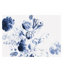 Fototapete Royal Blue Flowers 2