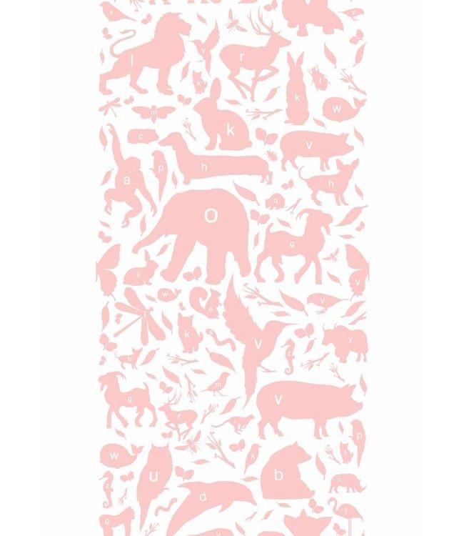 Tapete für Kinderzimmer ABC Animals, Rosa