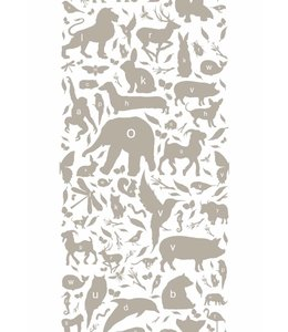 Tapete ABC Animals, Taupe