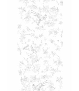 Tapete Birds & Blossom, Gris