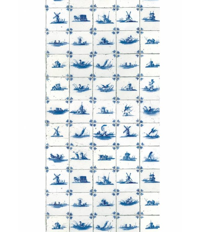Tapete Royal Blue Tiles