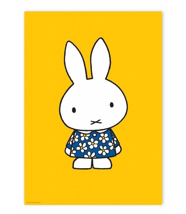 Nijntje / Miffy Poster Miffy with blue flower dress, 42 x 59.4 cm