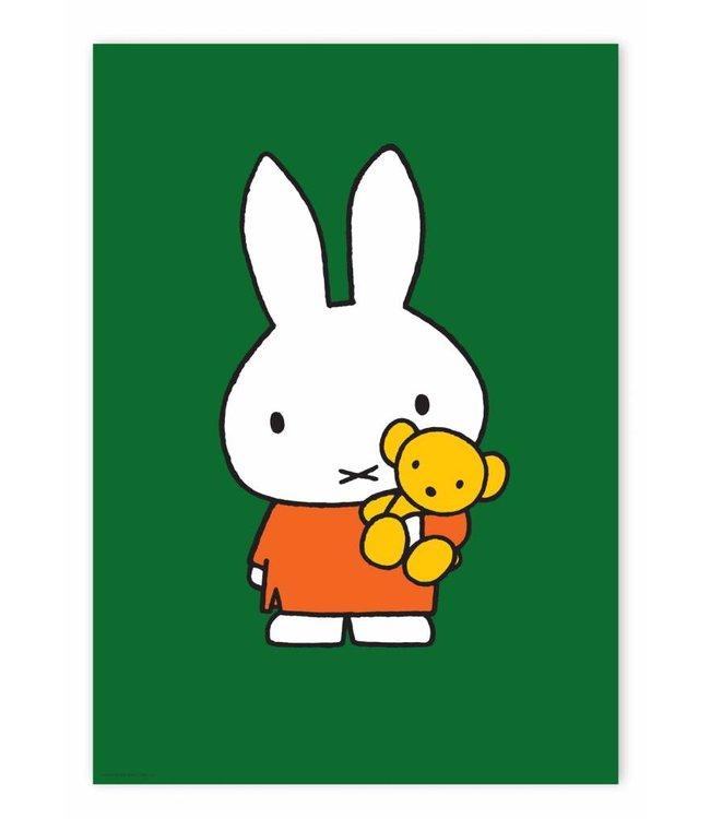Nijntje / Miffy Poster Miffy with little bear, 42 x 59.4 cm