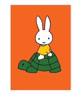 Nijntje / Miffy Poster Miffy riding on turtle