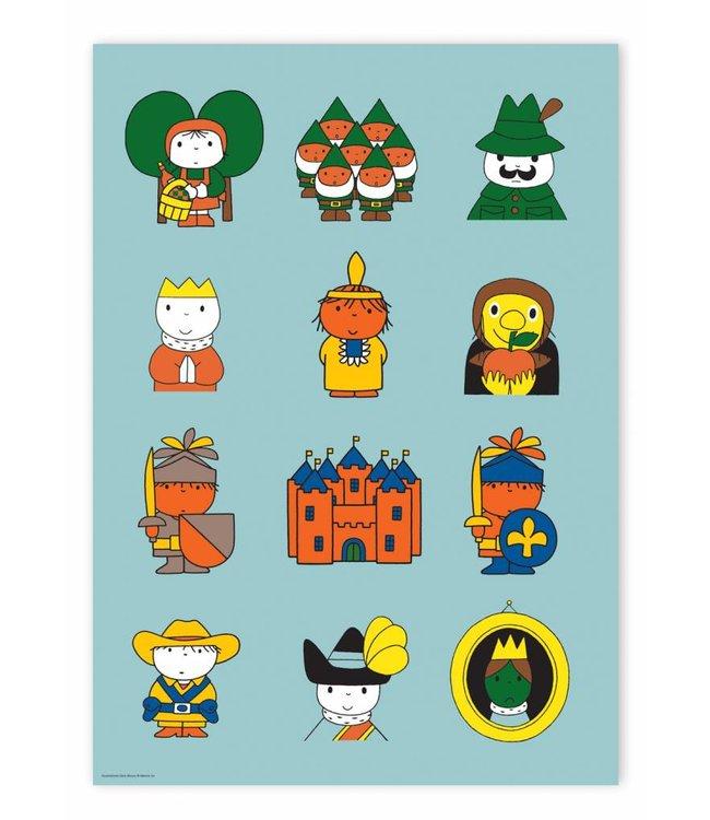 Nijntje / Miffy Poster Dick Bruna's fairytale characters, 42 x 59.4 cm