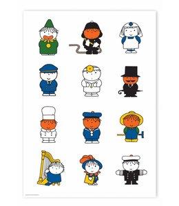 Nijntje / Miffy Poster Dick Bruna's various characters