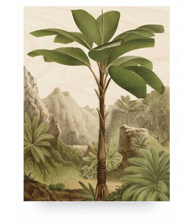 Holzbilder, Banana Tree, L, 75 x 100 cm