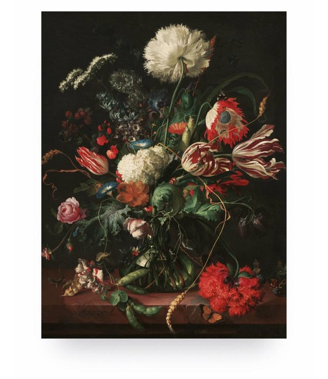 Holzbilder, Golden Age Flowers 1, M, 60 x 80 cm