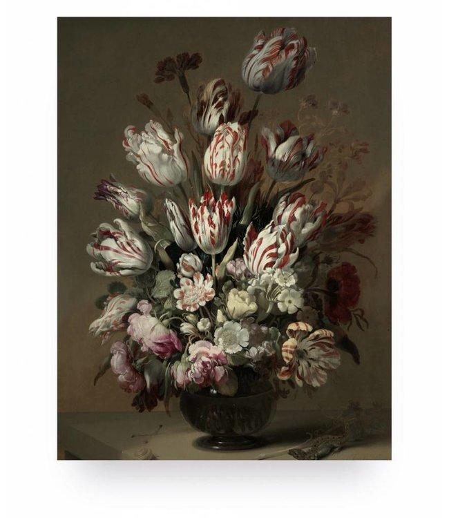 Holzbilder, Golden Age Flowers 4, S, 45 x 60 cm