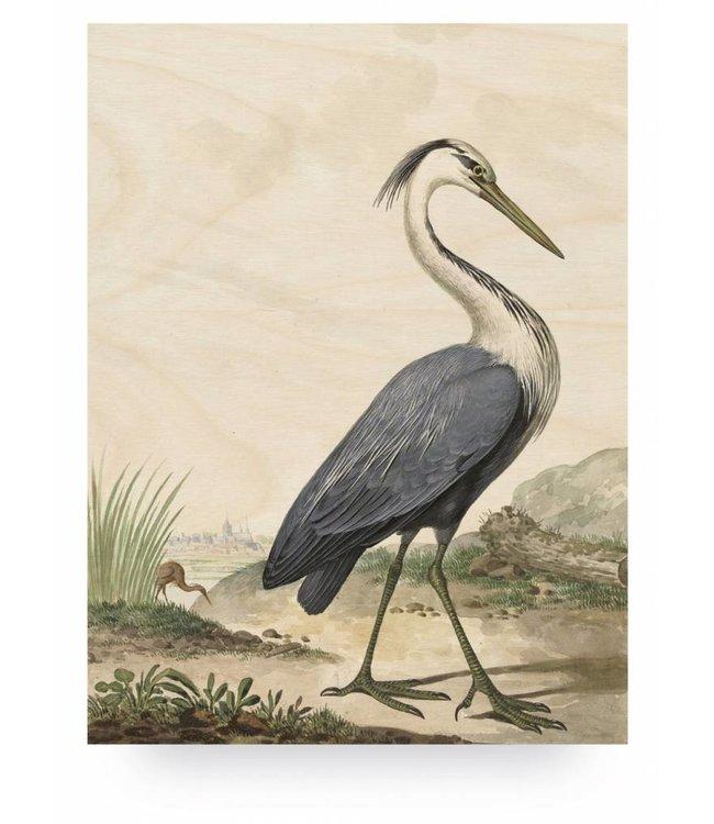 Holzbilder, Reiger/Heron, L, 75 x 100 cm